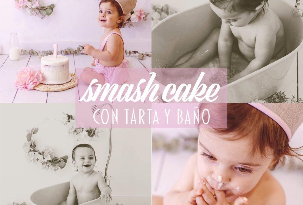 Promoción Smash Cake, con tarta y baño